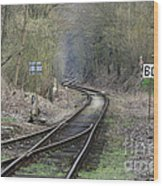 Railway Line Wood Print