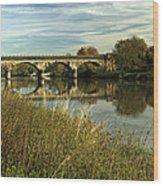 Railway Viaduct At Waterside - Stapenhill Wood Print