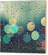 Rain And The City Wood Print
