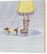 Rain Boots Wood Print by Christy Beckwith
