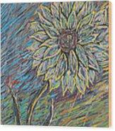 Rain Flower Wood Print