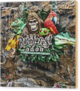 Rain Forest Cafe Signage Walt Disney World Wood Print