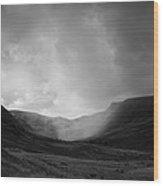 Rain In Riggindale Wood Print
