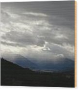 Rain In The Foothills Wood Print