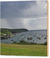 Rain Mackerel Cove Wood Print