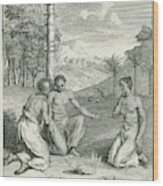 Rain-making Ceremony Of The  People Wood Print