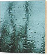 Rain On Bare Trees Wood Print
