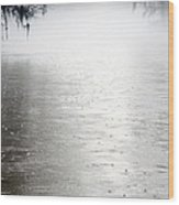 Rain On The Flint Wood Print