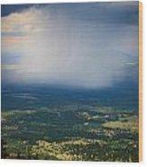Rain Shaft From The Peaks Wood Print