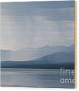 Rain Shower Over Marsh Lake Yukon Territory Canda Wood Print