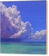 Rain Squall On The Horizon Wood Print