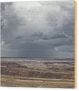 Approaching Storm The Painted Desert Arizona Wood Print