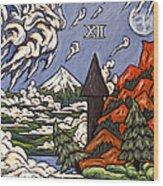 Stormy Noon Wood Print