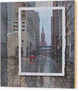 Rain Water Street W City Hall Wood Print