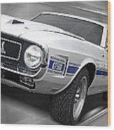 Rain Won't Spoil My Fun - 1969 Shelby Gt500 Mustang Wood Print
