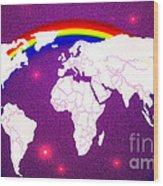 Rainbow's World 20 Wood Print