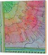 Rainbow 3-squared Wood Print