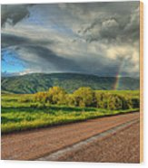 Rainbow After The Storm Wood Print by John McArthur