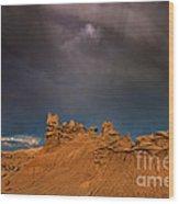 Rainbow And Sandstone Formations Fantasy Canyon Utah Wood Print
