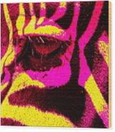 Rainbow Animals - Zebra  Wood Print