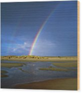 Rainbow Appears Over The Mouth Wood Print