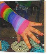 Rainbow Arm Wood Print