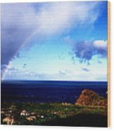 Rainbow At Punta Banda Wood Print
