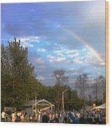 Rainbow At Wind Gap Park Wood Print