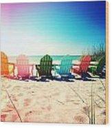Rainbow Beach Photography Light Leaks1 Wood Print