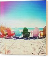 Rainbow Beach Photography Light Leaks2 Wood Print