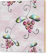Rainbow Berries Wood Print