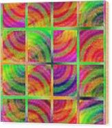 Rainbow Bliss 3 - Over The Rainbow V Wood Print