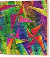 Rainbow Bliss - Pin Wheels - Painterly - Abstract - H Wood Print