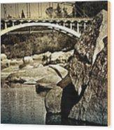 Rainbow Bridge In Folsom Ca Wood Print