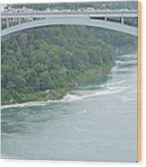 Rainbow Bridge Over Niagara Wood Print