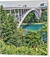 Rainbow Bridge View Wood Print