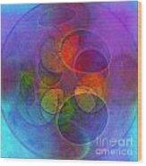Rainbow Bubbles Wood Print by Klara Acel