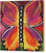 Rainbow Butterfly Wood Print
