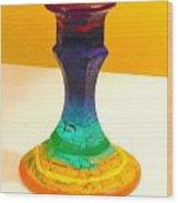 Rainbow Candlestick Wood Print