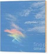 Rainbow Cloud Wood Print