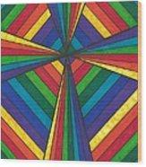Rainbow Cross Wood Print