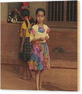 Rainbow Dress. Indian Collection Wood Print