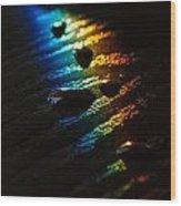 Rainbow Drops Wood Print