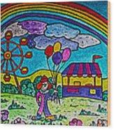 Rainbow Fair Wood Print