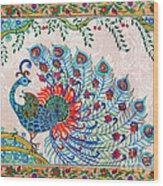 Rainbow Feathers Wood Print