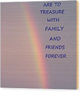 Rainbow Happiness Wood Print