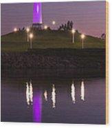 Rainbow Harbor Lighthouse Wood Print