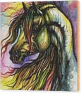 Rainbow Horse 2 Wood Print