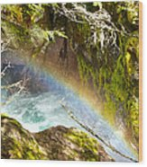 Rainbow In Avalanche Creek Canyon In Glacier National Park-montana Wood Print