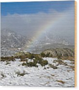 Rainbow In The Mountain Wood Print